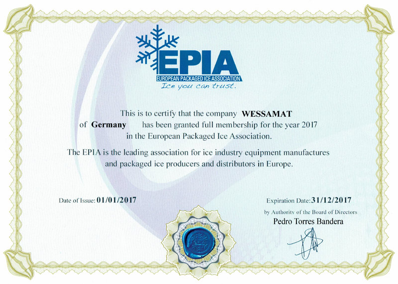 WESSAMAT EPIA european packaged ice association