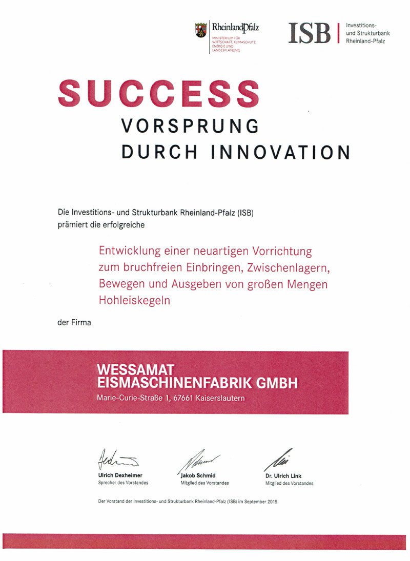 WESSAMAT Success Vorsprung durch Innovation